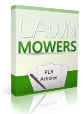 10 Lawn Mowers Articles Gold Article with Private Label Rights