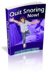Quit Snoring Now! eBook with private label rights