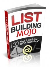 List Building Mojo eBook with Private Label Rights