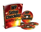 WP Setup Checklist Video with Master Resell Rights