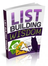 List Building Wisdom eBook with Private Label Rights