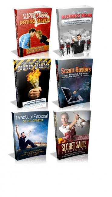 6 Pack Of PLR Ebooks