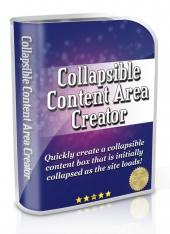 Collapsible Content Area Creator Software with Master Resell Rights