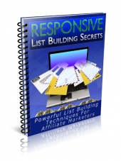 Responsive List Building Secrets eBook with Private Label Rights