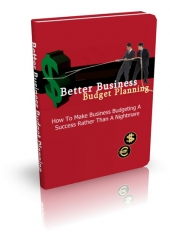 Better Business Budget Planning eBook with Master Resell Rights