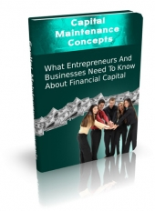 Capital Maintenance Concepts eBook with Master Resell Rights