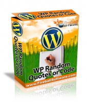 WP Random Quotes or Code Software with Master Resell Rights