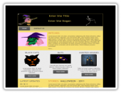 Halloween Templates (2) Software with private label rights