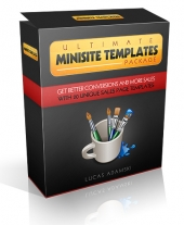 Ultimate Minisite Templates Graphic with Resell Rights