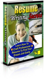 Resume Writing Secrets eBook with Private Label Rights