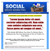 Social Media Marketing Template Template with Personal Use Rights
