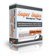 Super Styles WordPress Plugin Software with Personal Use Rights