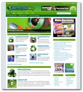 Recycling Blog Template with private label rights