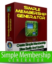 Simple Membership Generator Software with Master Resell Rights