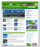 Wind And Solar Niche Blog Template with private label rights