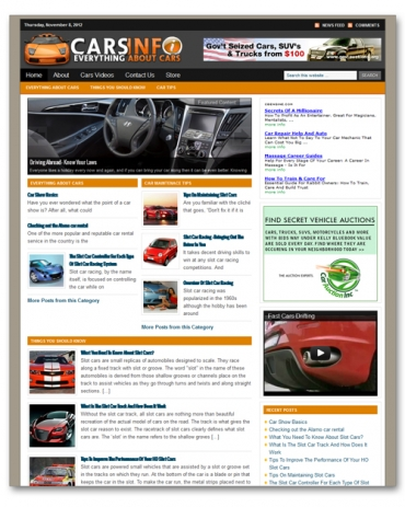Cars And Automobile Niche Blog