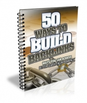 50 Ways to Build Backlinks eBook with Master Resell Rights