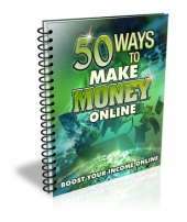 50 Ways to Make Money Online eBook with Master Resell Rights