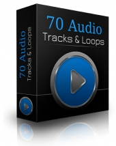 70 Audio Tracks & Loops Audio with Private Label Rights