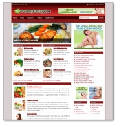 Healthy Eating Niche Blog Template with private label rights