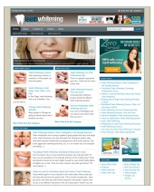 Teeth Whitening Niche Blog Template with private label rights