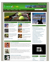 Tennis Niche Blog Template with private label rights
