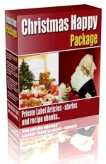 Christmas Happy Package eBook with Private Label Rights