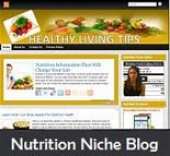 Nutrition Niche Blog Template with private label rights