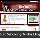Quit Smoking Niche Blog Template with Personal Use Rights