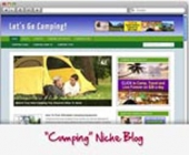 Camping WordPress Blog Template with private label rights