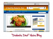 Diabetic Diet WordPress Blog Template with private label rights