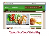 Gluten Free WordPress Niche Blog Template with private label rights