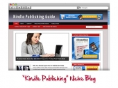 Kindle Publishing WordPress Niche Blog Template with private label rights
