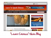 Learn Chinese WordPress Niche Blog Template with Personal Use Rights