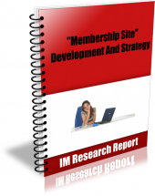 Membership Site – Development And Strategy eBook with Master Resell Rights