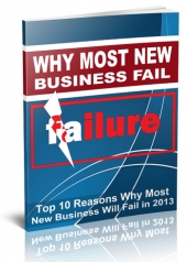 Why Most New Business Fail in 2013 eBook with Giveaway Rights
