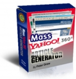 Mass Yahoo! 360 Article Generator Software with Master Resale Rights