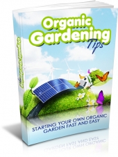Organic Gardening Tips eBook with private label rights
