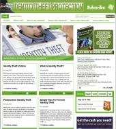 Identity Theft Blog Template with Personal Use Rights