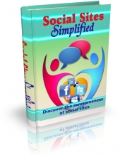 Social Sites Simplified eBook with private label rights