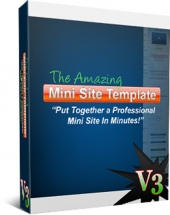The Amazing Minisite Template Version 3 Template with Personal Use Rights