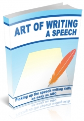 The Art of Writing a Speech eBook with private label rights