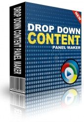 Drop Down Content Panel Maker Software with Personal Use Rights