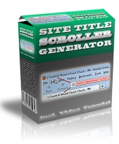 Site Title Scroller Generator Software with Master Resell Rights