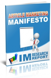 Article Marketing Manifesto eBook with Personal Use Rights