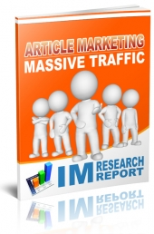 Article Marketing Massive Traffic eBook with Personal Use Rights
