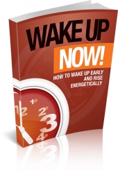 Wake Up Now eBook with private label rights