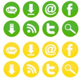Social Media Icons Graphic with Personal Use Rights