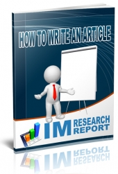 How to Write an Article eBook with Personal Use Rights