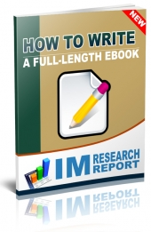 How to Write a Full Length eBook eBook with Personal Use Rights